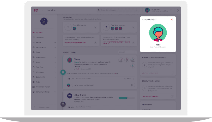 Workday onboarding dashboard