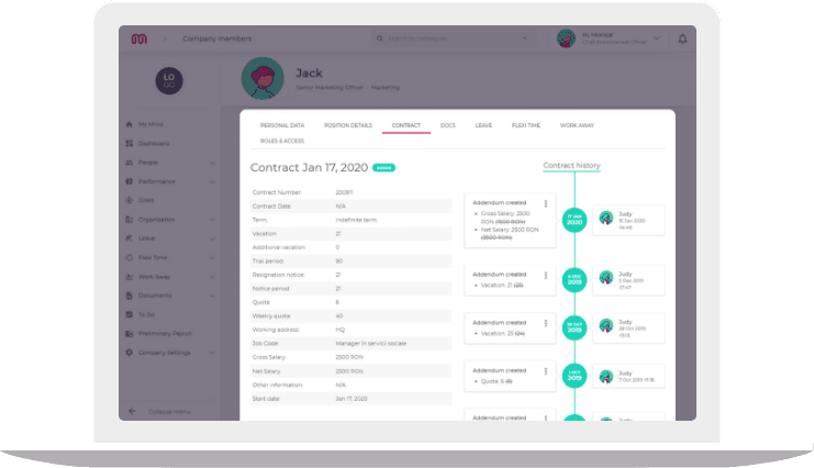 Manage your documents with this HR platform