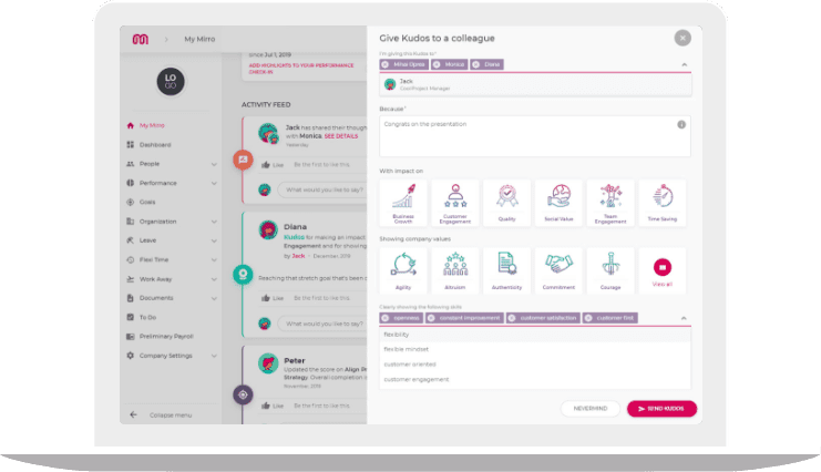 Give Kudos to your colleagues with this team feedback tool